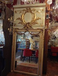 Grote antieke trumeau spiegel