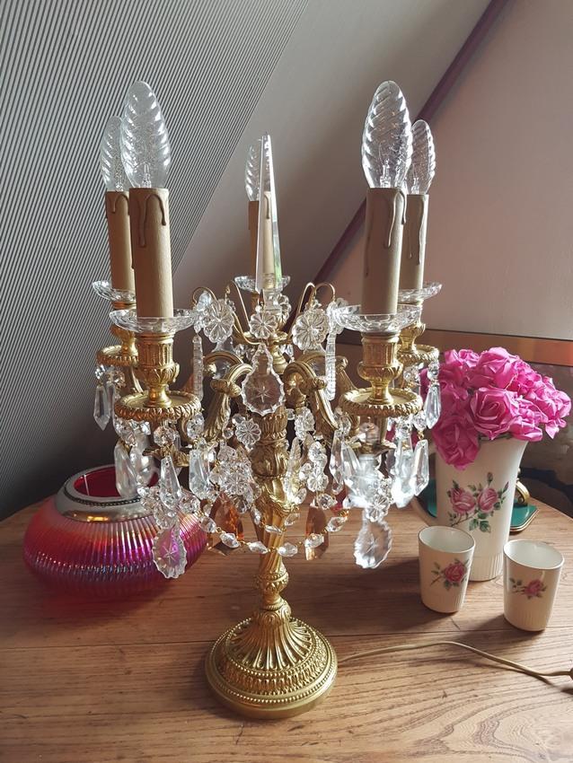Prachtige set tafellampen met massieve staander