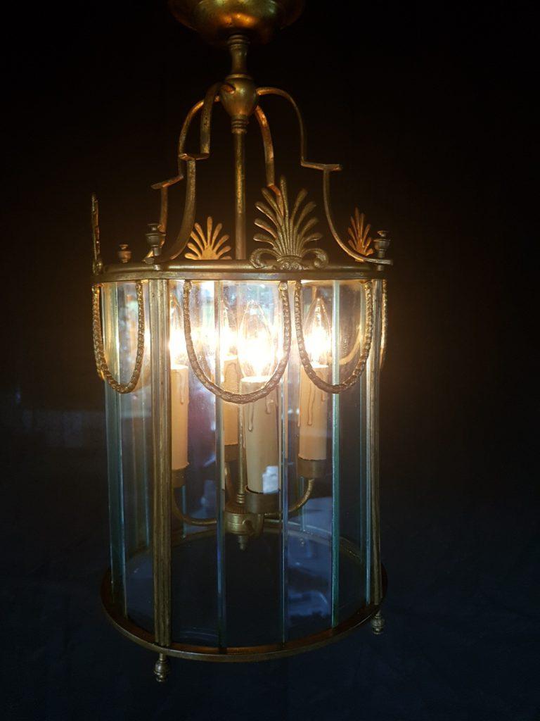 Franse lantaarn van verguld brons